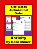 Alphabetical Order, Site Words, ABC Order, ABC Order Worksheet, Task Cards
