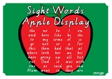 Sight Words Apple Display