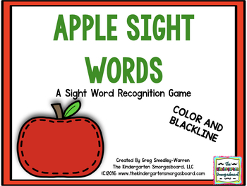 Sight Words!  Apple Tree Sight Words!  A Sight Word Recogn