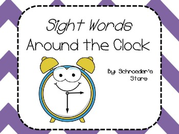 Sight Words Around the Clock