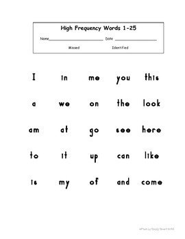 Sight Words: Assessment, Games and  Activities (Level 4)