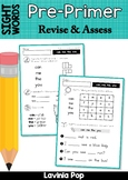 Sight Words - Revise and Assess Word Work (Pre-Primer Words)