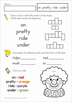 Sight Words Revise and Assess (Primer)