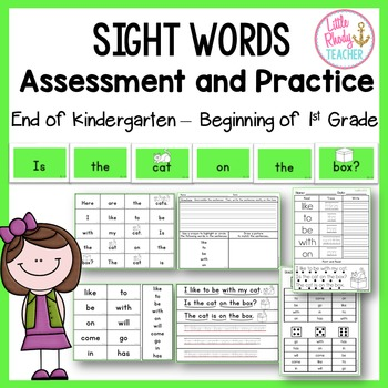Sight Words Assessment and Practice (IRLA Correlated: 1G Words)