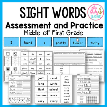 Sight Words Assessment and Practice (IRLA Aligned: 1B Power Words)