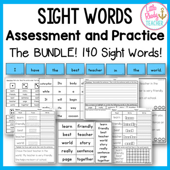 Sight Words Assessment and Practice (IRLA Aligned: 1B and 2B Power Words) BUNDLE