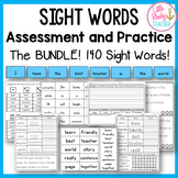 Sight Words Assessment and Practice (1B and 2B Words) BUNDLE
