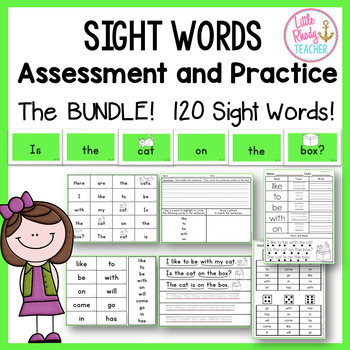 Sight Words Assessment and Practice (Can be used with IRLA 1G & 2G Words) BUNDLE