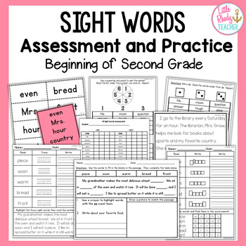 Sight Words Assessment and Practice (Can be used with IRLA 1R & 2R Words) BUNDLE