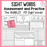 Sight Words Assessment and Practice (Grade 2) BUNDLE