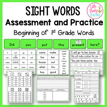Sight Words Assessment and Practice (IRLA Aligned: 2G Words)