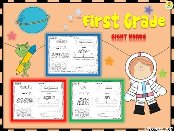 Sight Words - Astronauts Edition {First Grade}