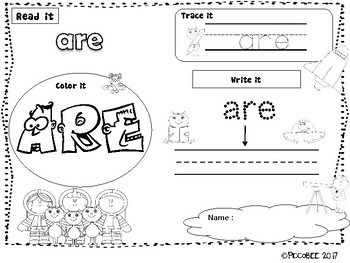 Sight Words - Astronauts Edition {Kindergarten}