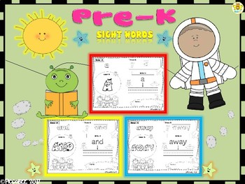 Sight Words - Astronauts Edition {Pre-K}