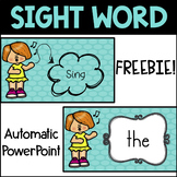 Sight Words Automatic PowerPoint Freebie