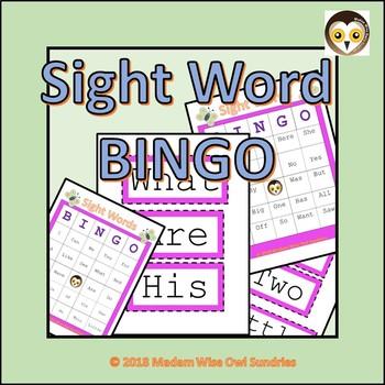 Sight Words: BINGO