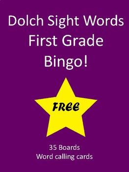 Sight Words BINGO! - Dolch First Grade List