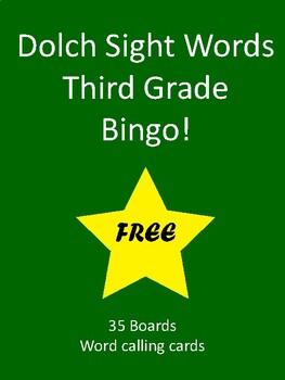 Sight Words BINGO! - Dolch Third Grade List