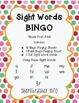 Sight Words BINGO: Simple PreK Pack