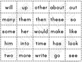 Sight Words - BUNDLE - Word Wall Words and Worksheets