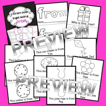Sight Word Fluency Readers BUNDLE List One