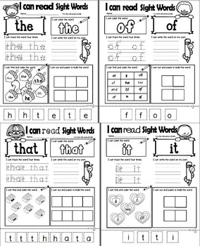Sight Words  BUNDLE - Working with the 1st 100 Fry Sight Words