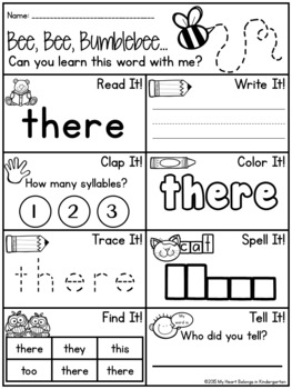 Sight Words BUNDLE (pre-primer, primer, first and second)