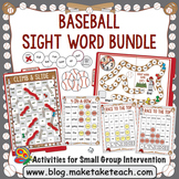 Sight Words - Baseball Themed Sight Word Bundle