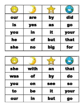 Sight Words Bingo - Game Set