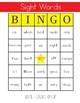 Sight Words Bingo - 2nd Grade Level