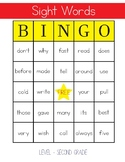 Sight Words Bingo - 2nd Grade Level