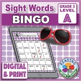 Sight Words Bingo: Dolch Grade 3 Set A - Digital & Differentiation Options