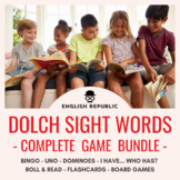 Dolch Sight Word Game Bundle (All Levels): Bingo, UNO, Dominoes, & Board Games