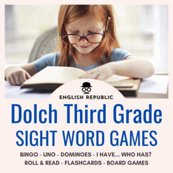 Dolch Sight Word Games (Third Grade) - Bingo, Dominoes, and Board Games