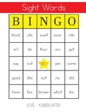 Sight Words Bingo - Kindergarten Level
