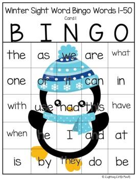 Sight Words Bingo Words 1-40