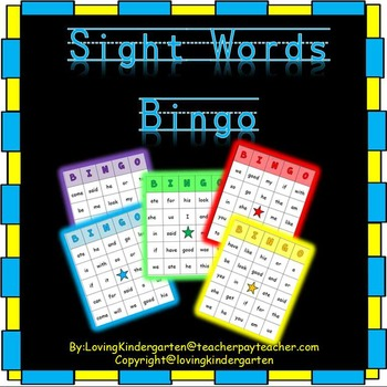 Sight Words Bingo for Kindergarten and Grade 1