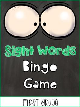 Sight Words Bingo / memory game First Grade List