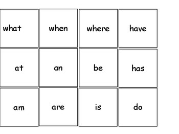 Sight Words Board Game