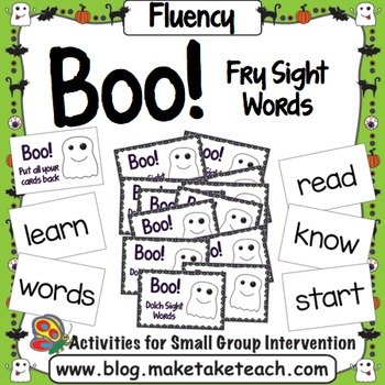 Sight Words - Boo! Fry Sight Words