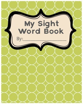 Sight Words Book