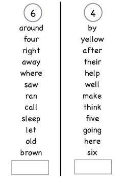 Sight Words Book – Dolch 220 Words