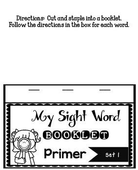 Sight Word Practice Primer