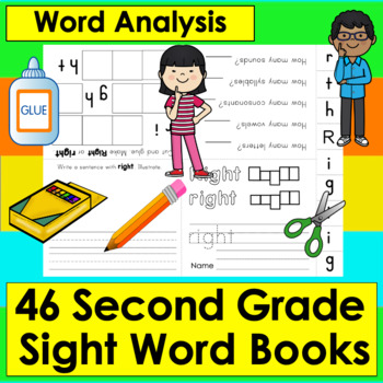 Sight Words Booklets GRADE 2: Interactive & Foldable - 46 Dolch - Print and Go!