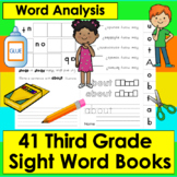 Sight Words Booklets GRADE 3: Interactive & Foldable - 41 Dolch - Print and Go!