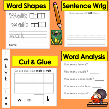 Sight Words Booklets Interactive & Foldable-41 FIRST GRADE Dolch-Print and Go!