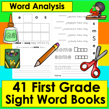 Sight Words Booklets Interactive & Foldable-41 FIRST GRADE