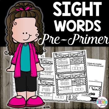 Sight Words Pre Primer