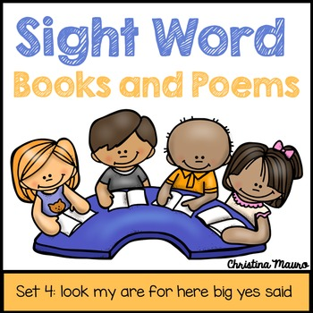 Sight Words Books and Poems - Set 4