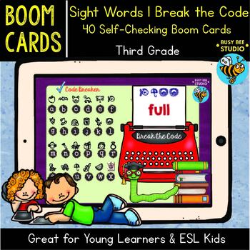 Sight Words | Boom Cards | Break the Code | Third Grade